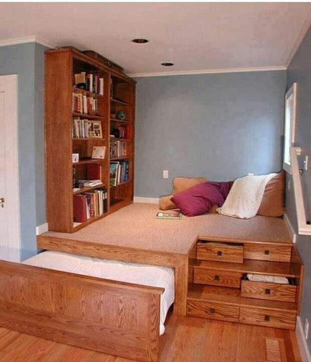 Да и просто... жизнь в малогабаритке lifehack, идеи для дома, идеи для зала, идеи для спальной комнаты, крутота, полезности, хитрости