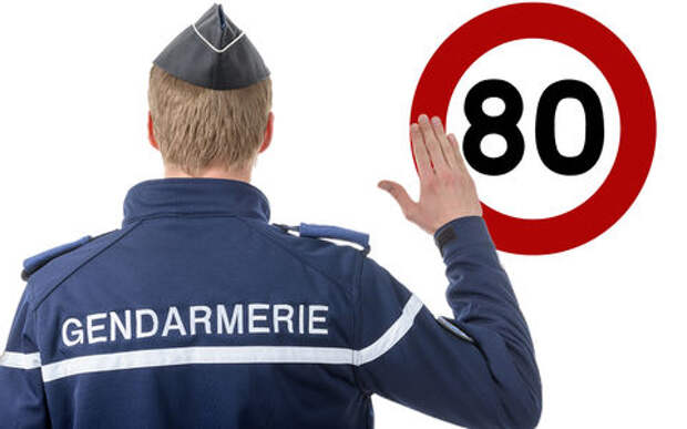 Французы отвоевали право ездить со скоростью 90 км/ч