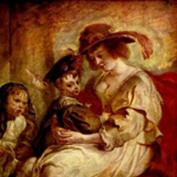 Портрет Елены Фоурмен с двумя детьми