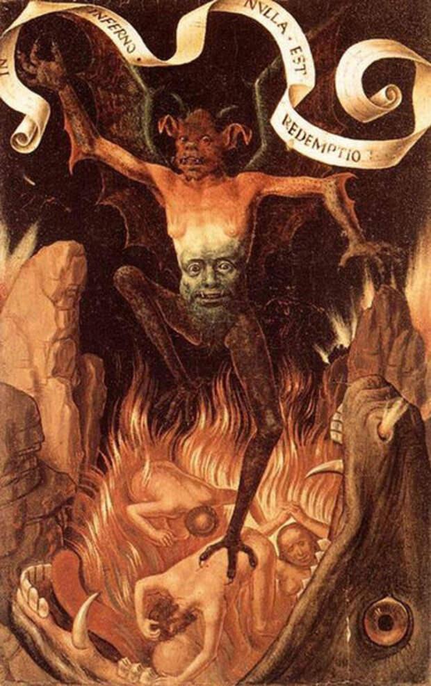 Триптих земного тщеславия и божественного спасения, фронтальная сторона правой панели