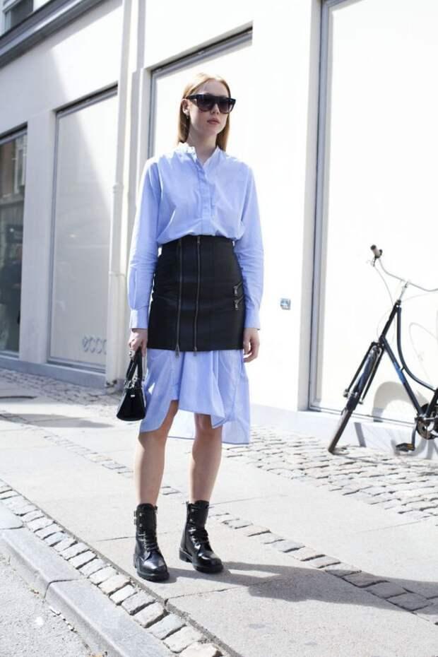 Платье рубашка с юбкой