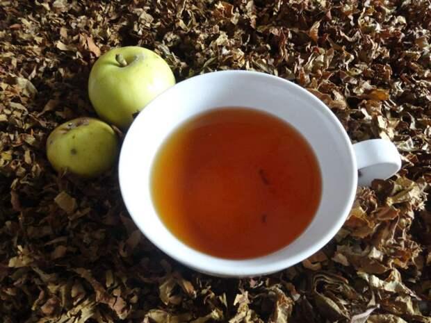Ферментированный чай из листьев садовых и дикорастущих растений