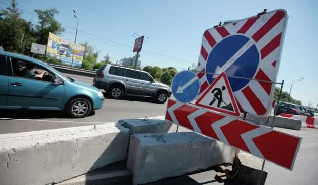 С 19 июня по 15 августа перекроют движение в боковом проезде Аминьевского шоссе