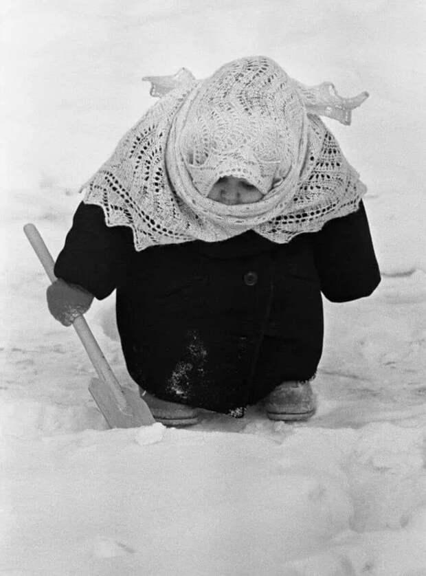 История знаменитого фото Фотография, Зима, Дети, СССР