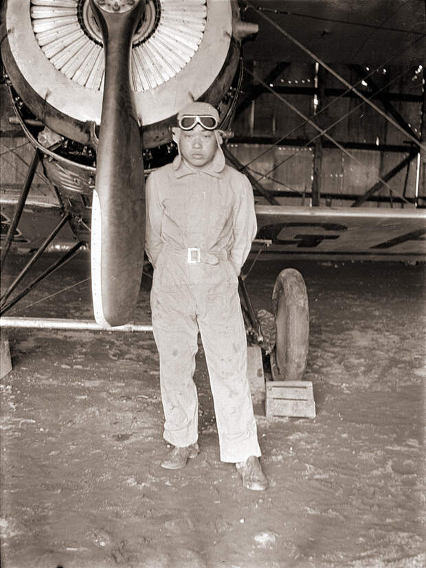 Japanese Airpane & Pilot, 1930s