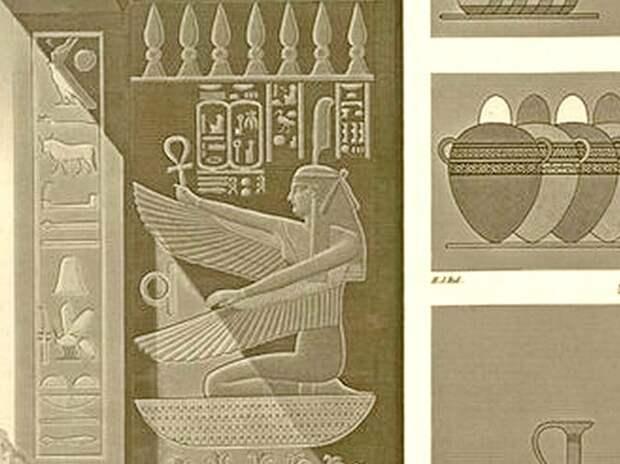 """Фрагмент гравюры из """"Описания Египта"""", том 2."""
