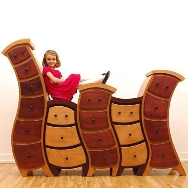 Кривые и сказочные комоды креативная, кривая, мебель, смешная, странна, фантастическая