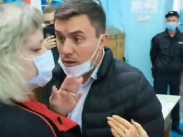 Выборы 2021. Дебош коммуниста Бондаренко на участке: дело дошло до ОМОНа