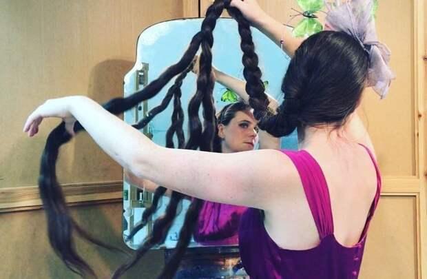 В 6 лет желая быть похожей на русалку или сказочную принцессу Фрэнки начала отращивать волосы Фрэнки Клуни, в мире, волосы, люди, рапунцель, уход