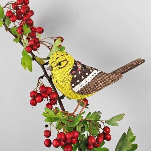 Милейшие текстильные  птички от TheCottonPotter