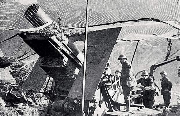 280-мм французская мортира, использовавшаяся вермахтом