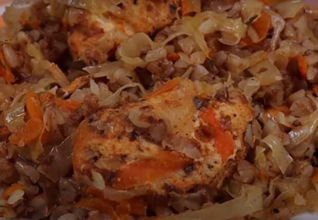 Шикарное блюдо из гречки с капустой