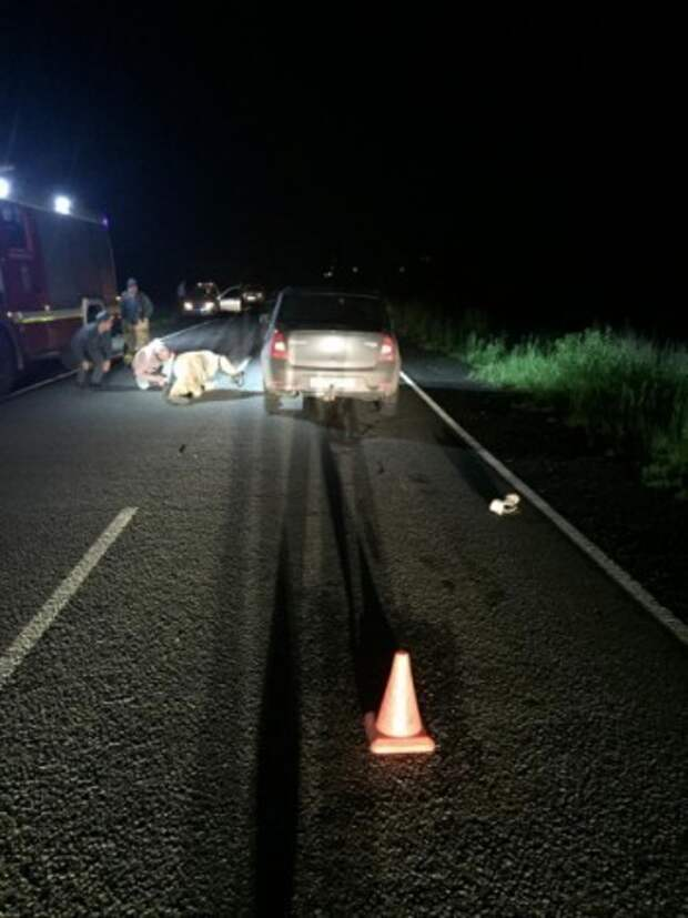 Два автомобиля переехали лежащего на трассе мужчину