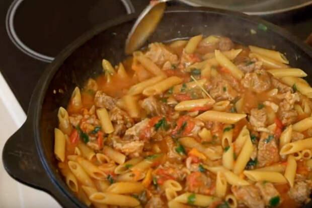 Макаронное рагу по-татарски: сытное блюдо для холодов