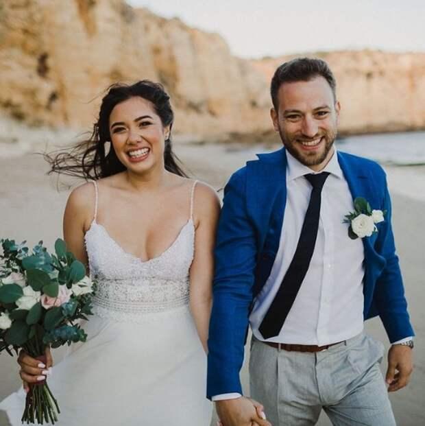 свадебное фото пары