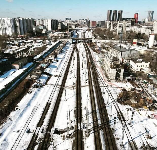 Фото дня: вид на стройку станции МЦД-2 «Марьина Роща»