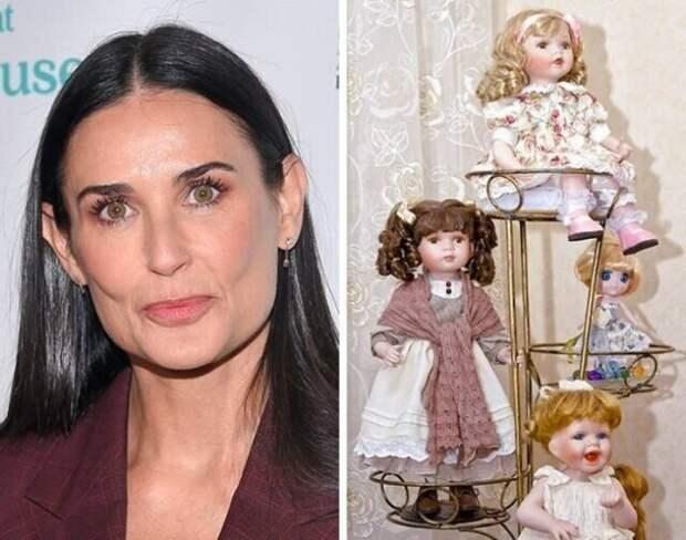 Деми Мур коллекционирует старинных кукол