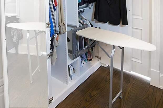 Идеи для хранения гладильной доски. Или 10 мест, где можно спрятать гладильную доску, фото № 37