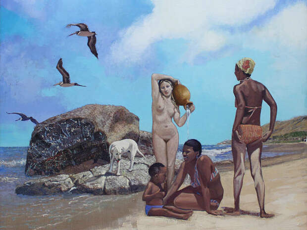 Обнаженная натура в изобразительном искусстве разных стран. Часть 144.