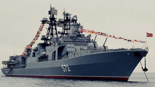 Российский корабль остановил нарушение границы эсминцем ВМС США