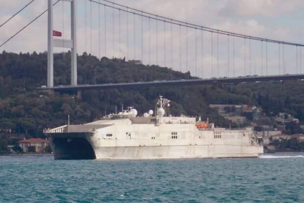 Корабль ВМС США вошел в Черное море