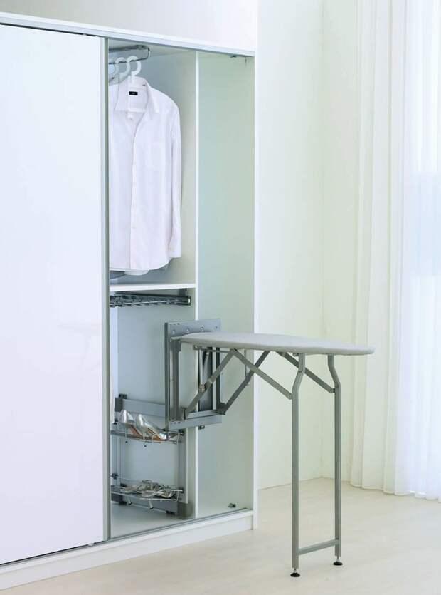 Идеи для хранения гладильной доски. Или 10 мест, где можно спрятать гладильную доску, фото № 36