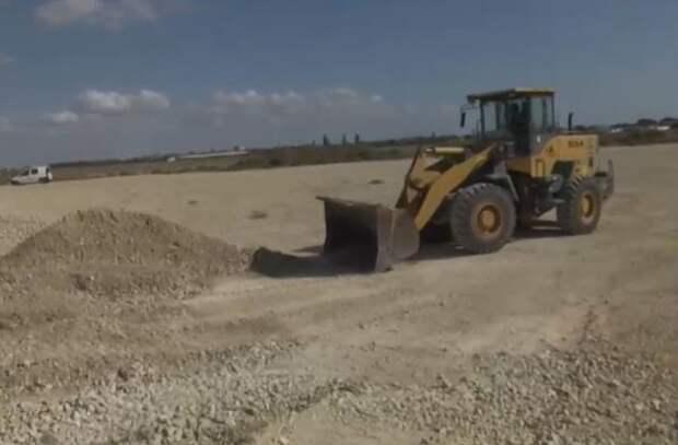 В Евпатории реконструируют Лесное шоссе