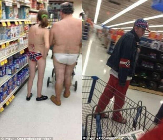Эксцентричные наряды обычных покупателей вамериканских супермаркетах