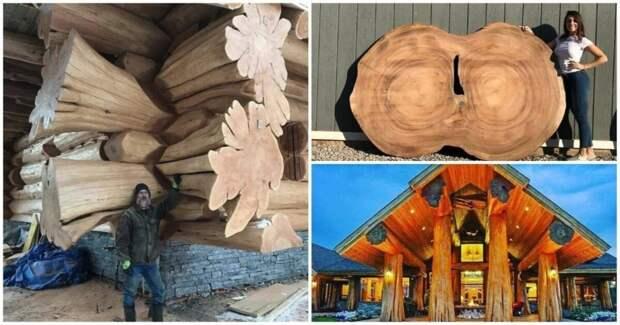 Сказочные срубы и слэбы: деревянная фантастика от мастеров своего дела