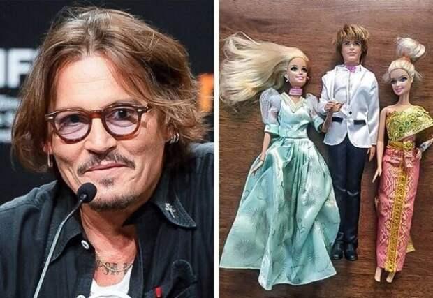 Джонни Депп коллекционирует Барби