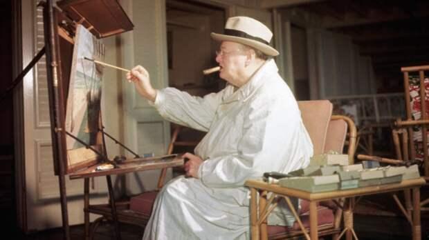 """На торги выставлена картина Уинстона Черчилля """"Сцена в Марракеше"""""""