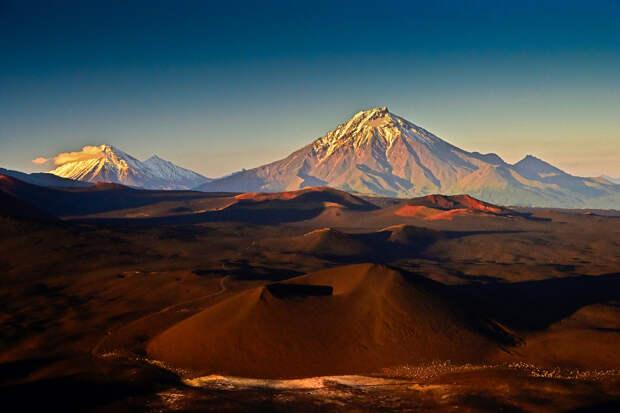 Вулканы Камчатки, фотоочерк о Ключевской группе вулканов.