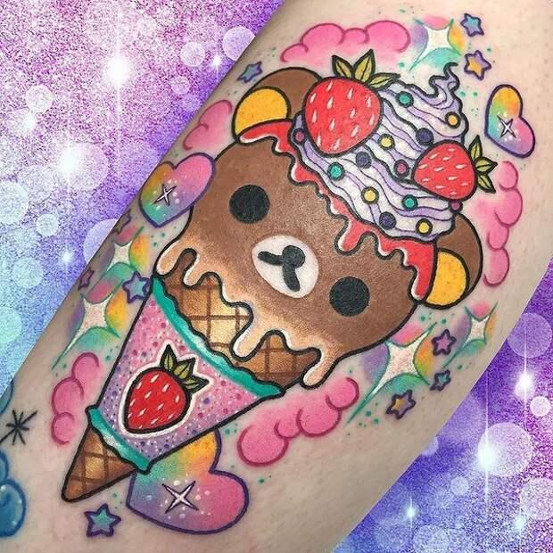 Шоколадное или ванильное? 20 татуировок, посвященных мороженому