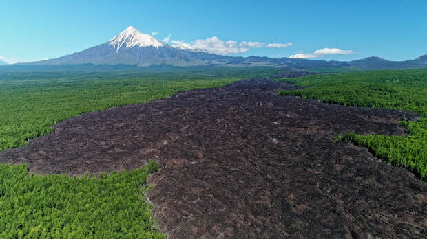лавовый поток вулкана Толбачик