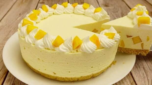 Персиковый торт суфле
