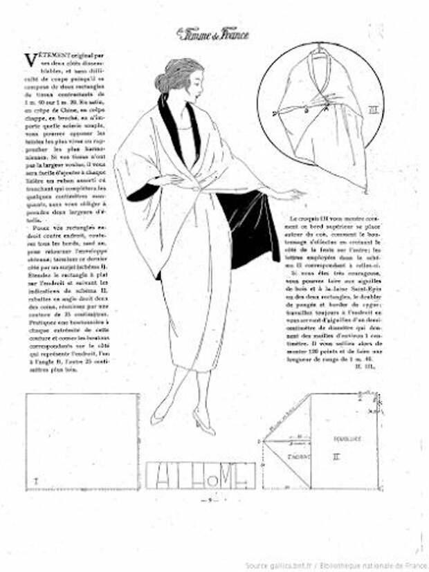 Антикварные выкройки на основе кимоно