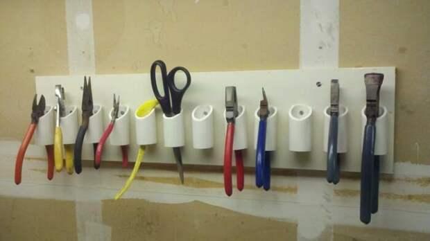 Отличная система для хранения мелких строительных инструментов. /Фото: his.ua