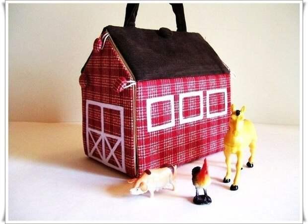 Кукольный домик из ткани