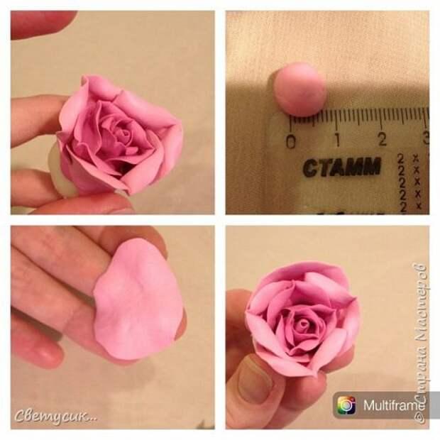 Мастер-класс Флористика искусственная Лепка МК розы из ХФ как и обещала Фарфор холодный фото 16