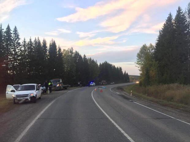 Мотоциклист погиб в аварии в Игринском районе Удмуртии