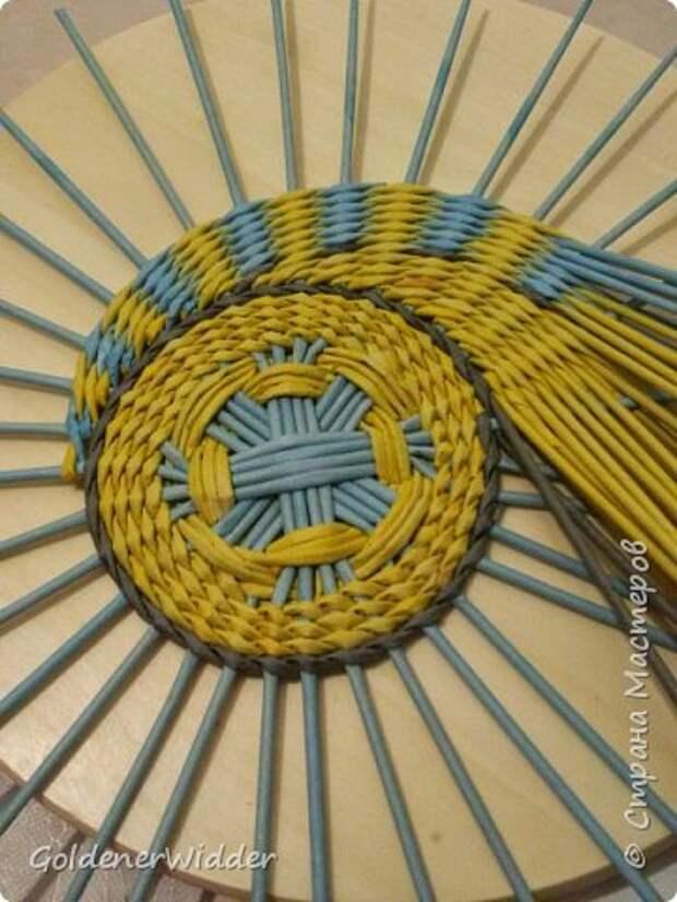 Мастер-класс Плетение Панно 40 см Спиральное плетение Бумага газетная Трубочки бумажные фото 41