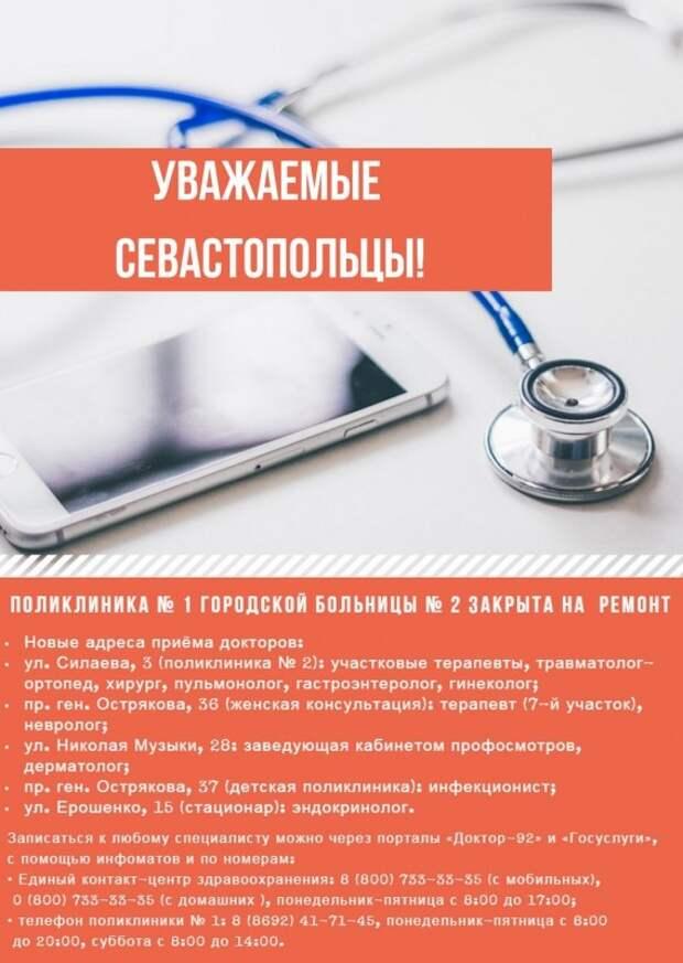 В Севастополе закрылась поликлиника. Куда обращаться?