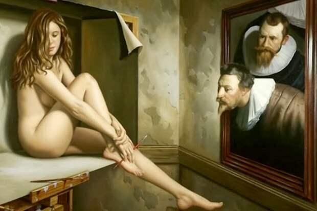 Мужчины оценивают женские ноги