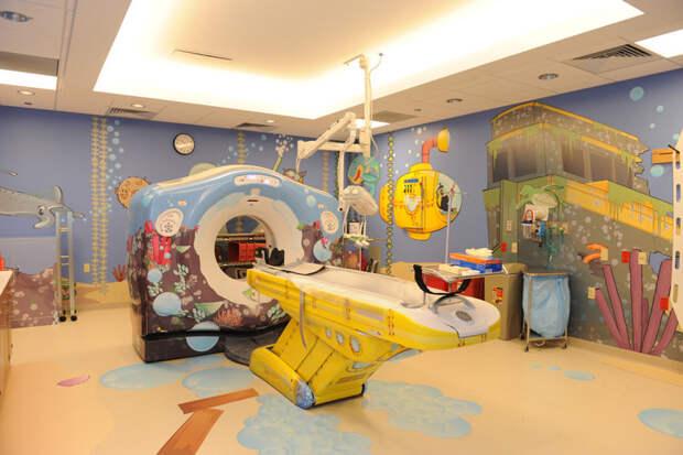10. Кабинет томографии Nationwide Children's Hospital, Коламбус, Огайо. больницы, дети