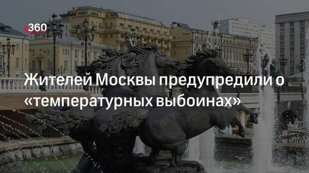Жителей Москвы предупредили о «температурных выбоинах»