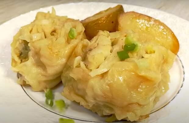 Крученки с капустой и картофелем: готовим обед