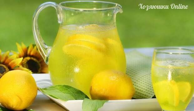 Освежающий домашний лимонад.