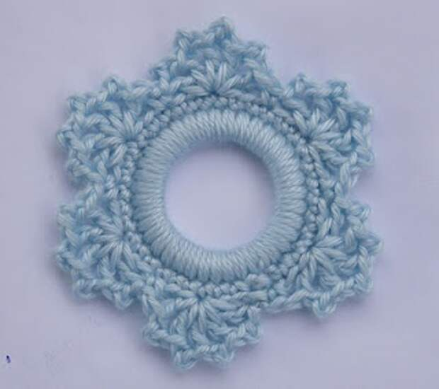 Whiskers & Wool: Lacy Snowflake Ring Ornament free crochet pattern