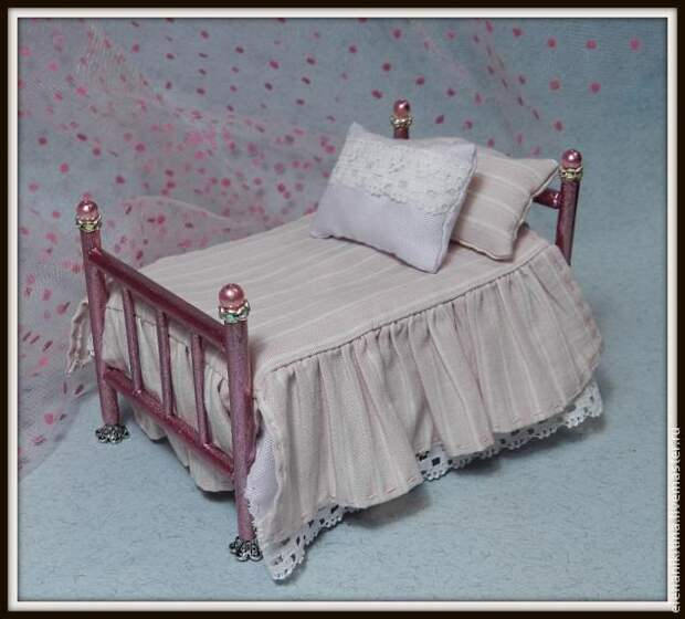 """""""Кровать"""". Кукольная миниатюра"""