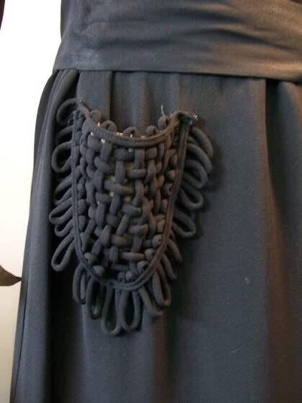 Плетеный кармашек